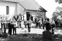 Posaunenchor bei der Einweihung der Autobahnkirche Exter 1959